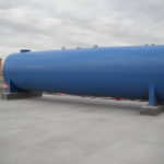fuel tank installation by Beckrich Construction
